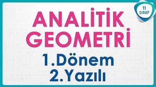 Analitik Geometri 1 Dönem Yazılı Soruları | 11. Sınıf Soru Avcısı #soruavcısı