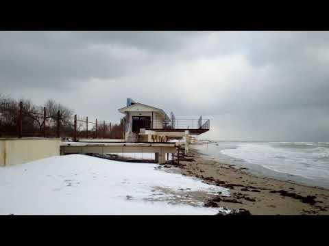 Зимнее море, Маяк, Евпатория, Заозерное