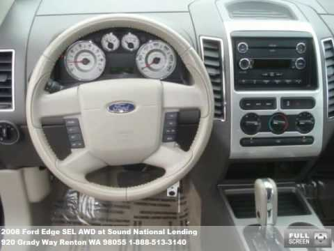 2008 Ford Edge SEL AWD, $20971 at Sound National Lending in Renton, WA