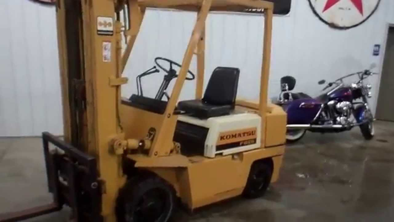 Komatsu tow motor forklift for sale wmsohio youtube for Tow motor vs forklift