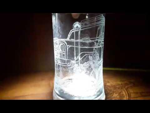 Гравировка на стакане с картинки