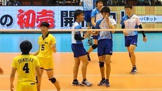 水町泰杜 鍬田憲伸 高川学園vs鎮西 第1セット 春の高校バレー2018 男子準決勝