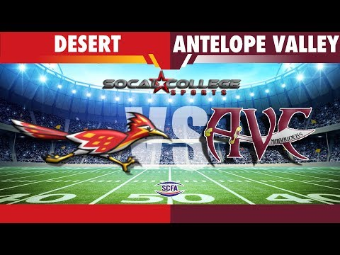 SCFA Football Week 8: College of the Desert at AVC - 10/20/18 - 6pm