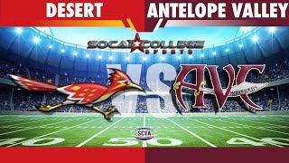 SCFA Football Week 8: College of the Desert at AVC - 10/20/18 - 6pm