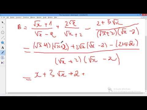 [9] Chuyên đề căn thức - Toán tổng hợp - Bai 2 Bài tập rút gọn rất hay cần học hỏi