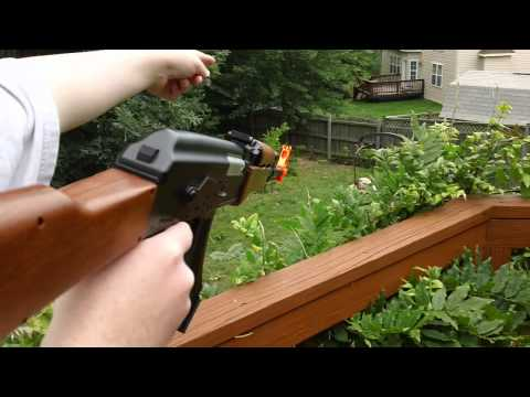 airsoft ak-47 unboxing and shooting test