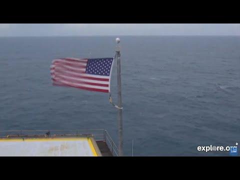 Frying Pan Tower off North Carolina coast has 2 live cams going during Hurricane Dorian