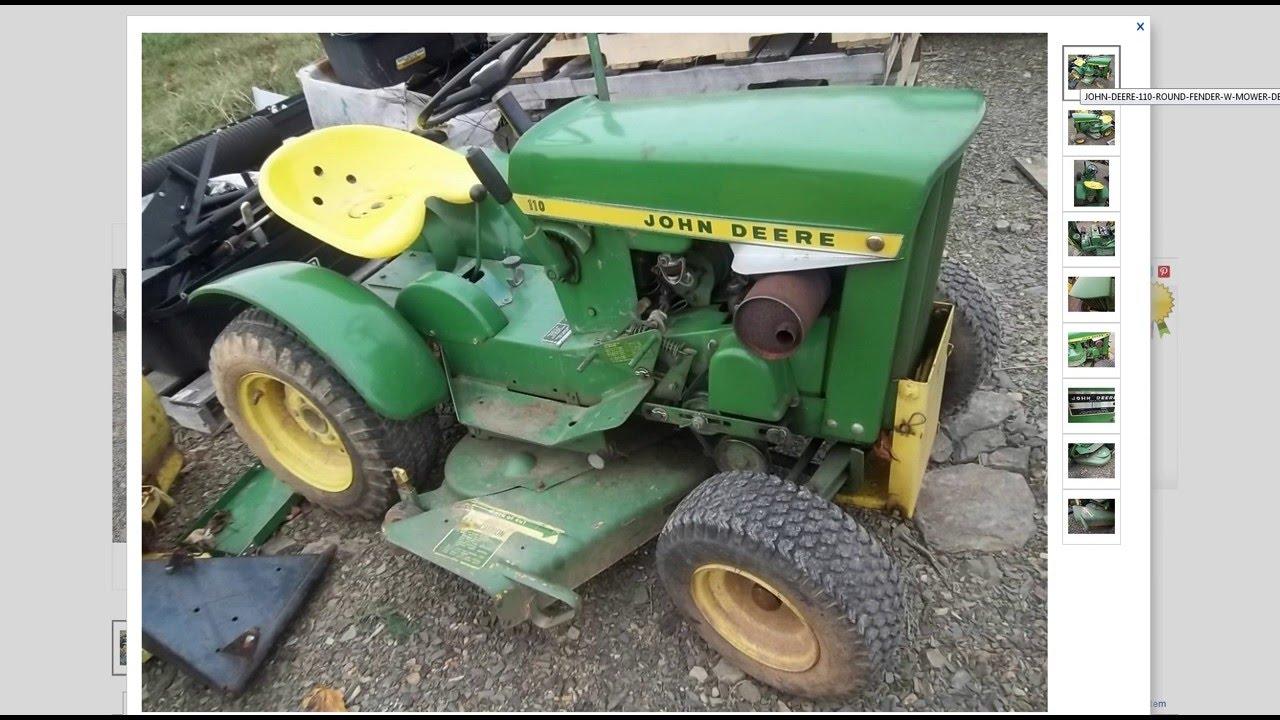 My New Vintage John Deere 110 Lawn Mower Tractor