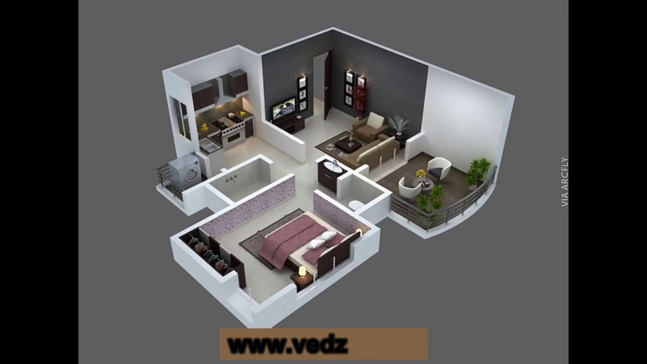 one or two bedroom small house plans best of 2017 - YouTube