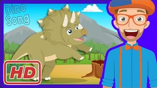 dinosaur song and more by blippi   videos for toddlers
