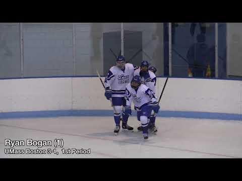 UMass Boston Men's Hockey Vs. Wentworth Institute Of Technology (11/2/19) Highlights
