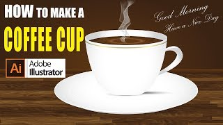 Illustrator how to design a coffee cup easy | Illustrator Tutorial