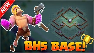 Best builders hall 5 (BH5) base desing! *Clash Of Clans* Win Every Defense!
