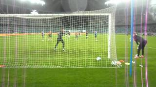 Manchester United shooting practice