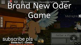Nuevo juego de Oder en Roblox..