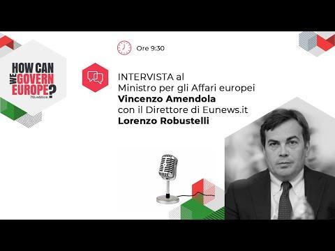 Intervista all'On. Vincenzo Amendola, Ministro per gli Affari europei