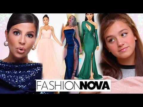 WE TRIED ON THE TOP 10 FASHION NOVA PROM DRESSES 2020