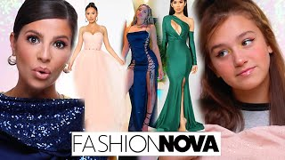 WE TRIED ON THE TOP 10 FASHION NOVA PROM DRESSES 2020