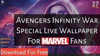 Special Live Desktop Wallpaper to Avenger Fans - Tech Explorer