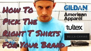 How To Pick The Right T Shirt For Your Brand