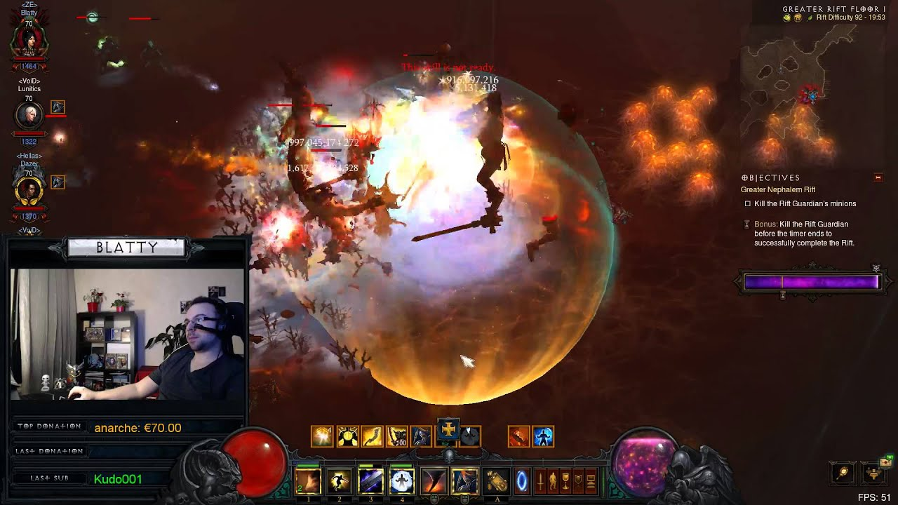 Download Diablo 3 : GR92 4-man ~6min (Season 5)