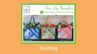 Sew By Number Tote - Finishing