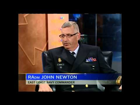 Rear Admiral John Newton of Maritime Forces Atlantic and Joint Task Force Atlantic