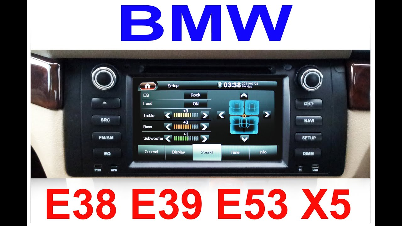 Bmw X5 E53 Radio Wiring Diagram Gibson Les Paul Studio 2012 Model E38 E39 Dvd Gps Satnav Sat Nav Oem
