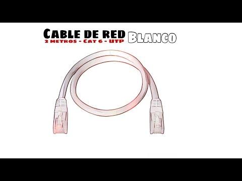 Video de Cable de red UTP CAT6 2 M Blanco