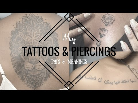 MY PIERCINGS & TATTOOS  Meanings + Pain Levels