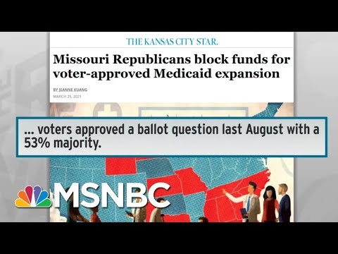 Missouri Republicans Refuse To Honor Vote On Medicaid Expansion | Rachel Maddow | MSNBC