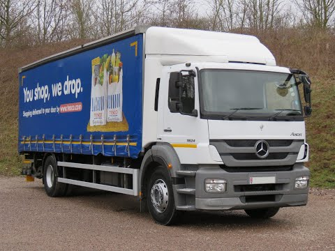 2011 61 Mercedes Axor 1824 18 Ton Curtainsider On Rear Air Suspension With Slide Out Tail Lift