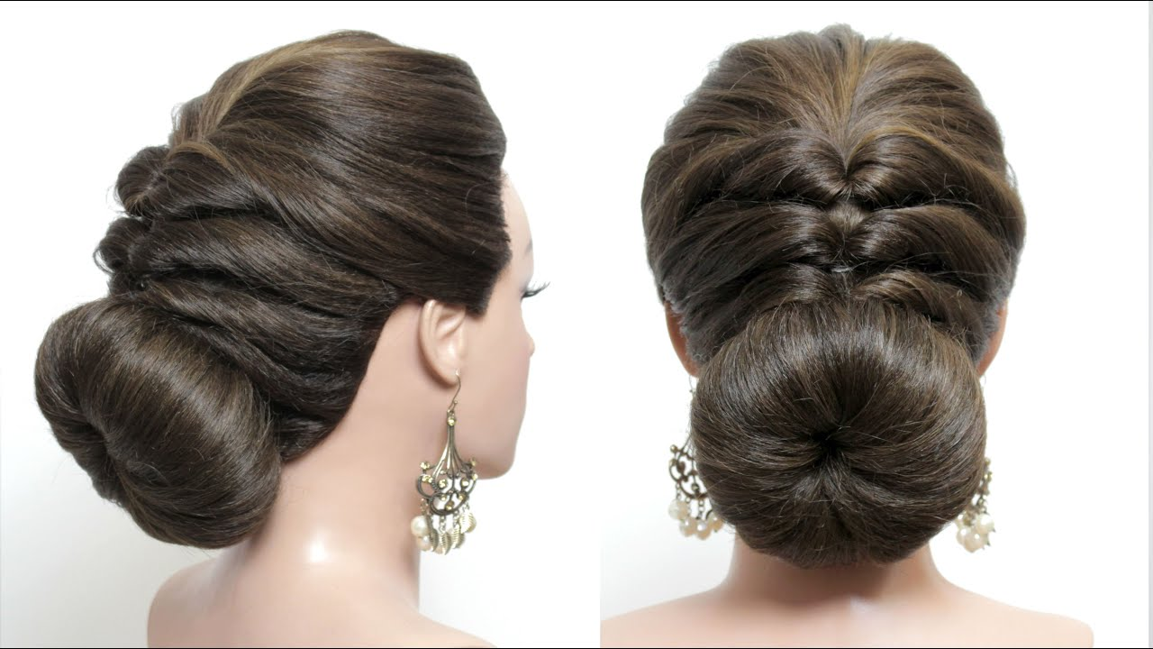 Party hairstyles. Hairstyles for medium&long hair. Low bun. Bridal hairstyle [Hair tutorial]