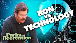Ron Swanson VS Technology | Parks and Recreation | Comedy Bites