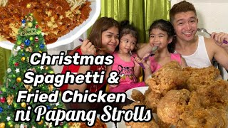 Christmas Spaghetti At Fried Chicken Ala Papang Strolls + Egg Sandwich ni Ate Mela | Melason Cooking