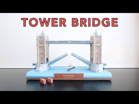 Papercraft - Tower Bridge London | Timelapse Build | Hands On Play