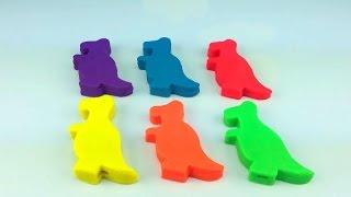 Play Doh сюрприз яйця динозавра форми!!! Дісней Піксар Історія Іграшок Міккі Маус Мінні Базз Вуді