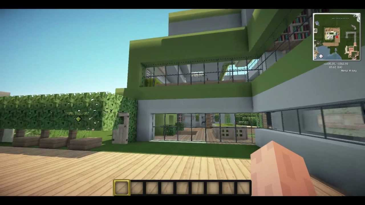 Minecraft green house youtube for Housse storio max 7