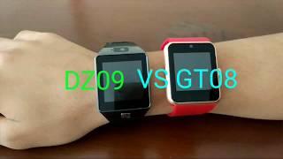 DZ09 VS GT08, Akılı saat karşılaştırma ve inceleme. Smart Watch DZ09 VS GT08