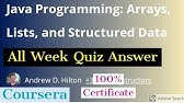 Java Programming Principles Of Software Design All Week Quiz Answer Java Programming Quiz Answer Youtube