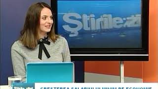 Invitatul Știrilor - Creșterea salariului minim pe economie