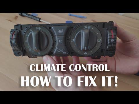 How To FIX Climate Control Fan Speed Switch Knob - Mercedes Benz w210 or w202