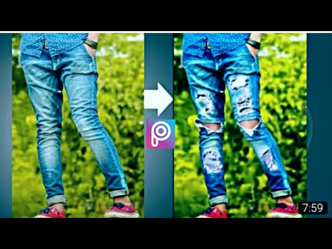 c5218044 PicsArt Editing convert Your Simple Jeans to Damage jeans Easy Step !!2017!!