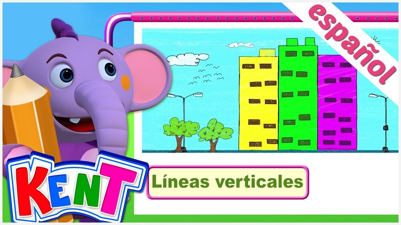 Kent el Elefante | Kent dibuja diferentes tipos de líneas - Aprende jugando