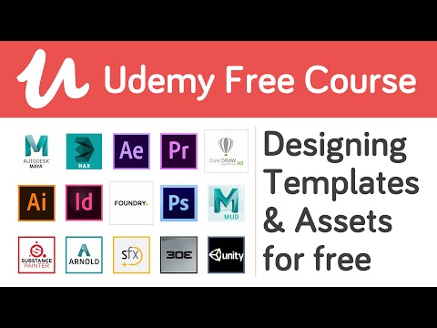 How to download Udemy Paid Course for Free 2020 (Designing Courses) & Designing Templates for Free