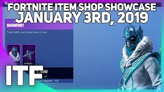 Fortnite Item Shop *NEW* SNOWFOOT SKIN! [January 3rd, 2019] (Fortnite Battle Royale)