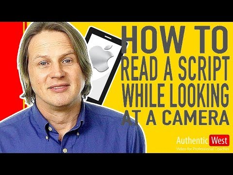 How To Read A Script While Looking Into The Camera Brighton West