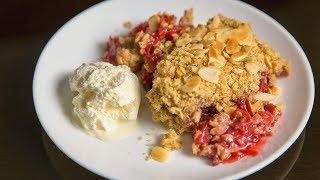 Пирог на сковороде или Крамбл с грушами и сливами | АСМР |  Рецепт