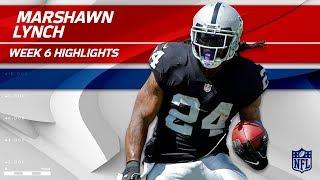 Marshawn Lynch Highlights | Chargers vs. Raiders | Wk 6 Player Highlights