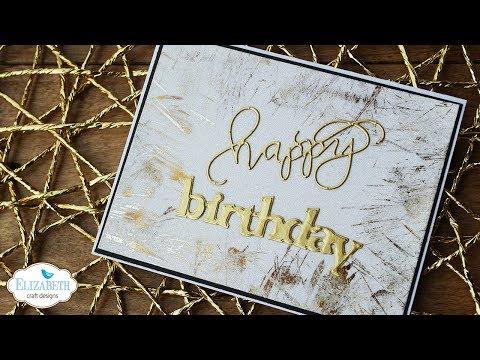 Birthday Card With Silk Microfine Glitter Deco Foil